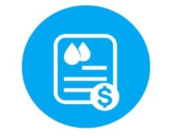 reduced water bill icon